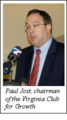 Paul Jost, chairman of the Virginia Club for Growth