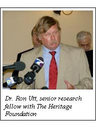 Dr. Ron Utt, senior research fellow with The Heritage Foundation